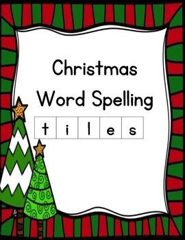 Christmas Spelling Tiles