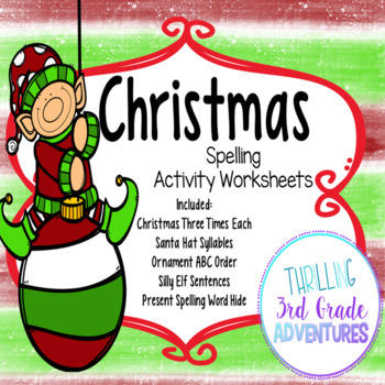 Christmas Spelling Worksheets
