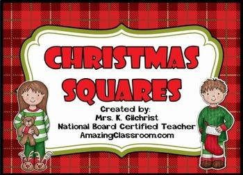 Christmas Squares Review Game Template - Promethean ActivI
