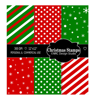 Christmas Stamps Paper Pack