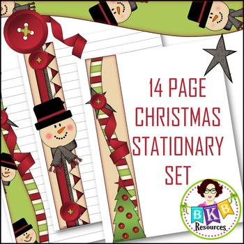 Christmas Stationary ● Writing Paper ● Holiday Paper ● Printables