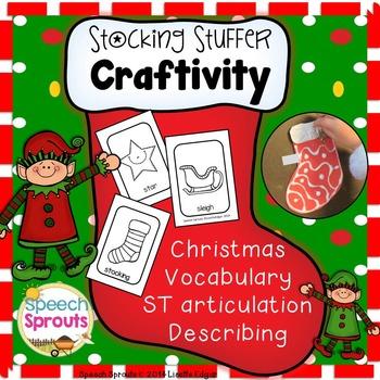 Christmas Stocking Craftivity Freebie: Vocabulary, Describ