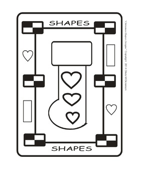 Christmas Stocking Shapes-B (Picture-n-Frame)