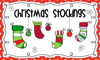 Christmas Stockings Bulletin Board Title