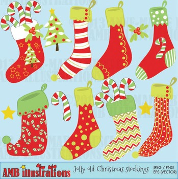 Christmas Stockings clipart AMB-374