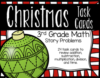 Christmas Story Problems for 3rd Grade Math