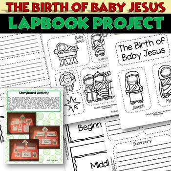 Christmas Storyboard Birth of Baby Jesus - Nativity Craftivity