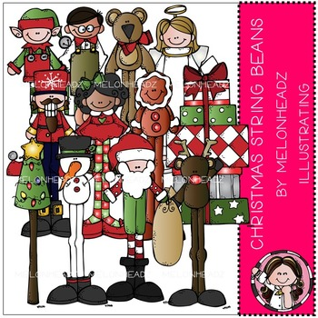 Melonheadz: Christmas String Beans clip art - COMBO PACK