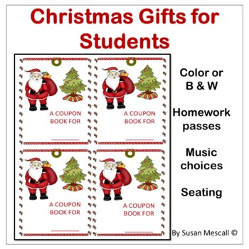 Student Gift Coupon Book