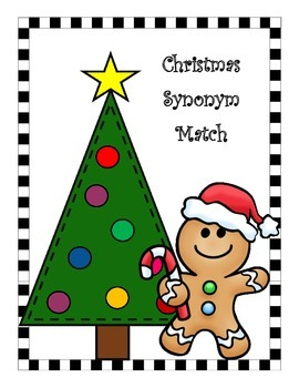 Christmas Synonym Match with Recording Sheet
