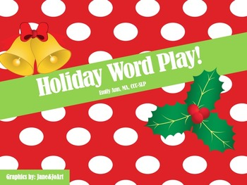 Christmas Synonyms, Antonyms, and Word Associations!
