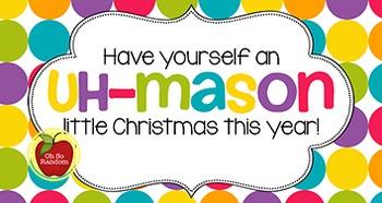 Christmas Tag | Uh-Mason Christmas