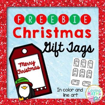 Christmas Gift Tags FREEBIE