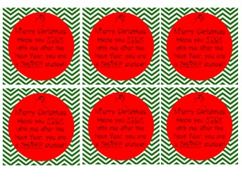 Christmas Tags for Students