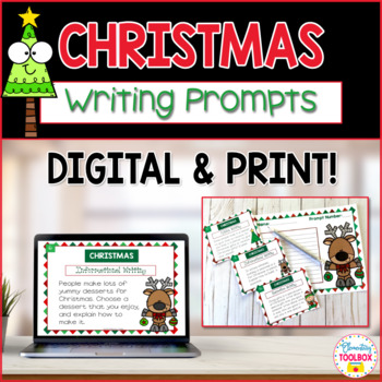Christmas Writing Prompts Task Cards