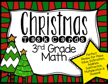 Christmas Task Cards for 3rd Grade Math