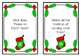 Christmas Task Cards for Projects