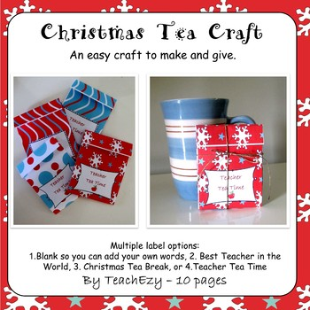 Christmas Tea Bag Craft