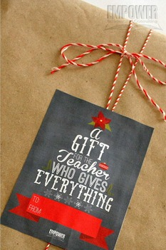 Christmas Teacher Appreciation 3rd Grade Literacy Gift Pack