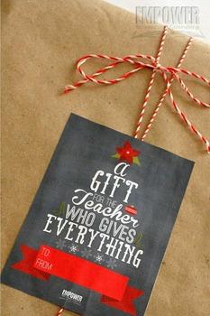 Christmas Teacher Appreciation 6th Grade Literacy Gift Pack