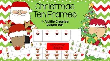 Christmas Ten Frames
