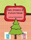 Christmas Tense Verbs - Literacy Center Activity plus Worksheets