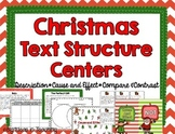 Christmas Text Structure Reading Centers - Compare Contras
