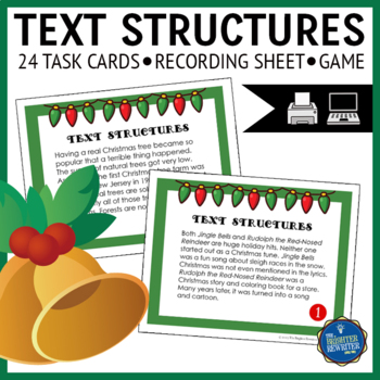 Christmas Text Structures Task Cards