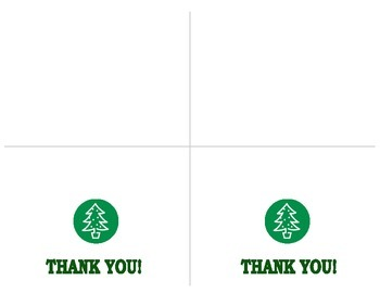 Christmas Thank You Cards/Notes