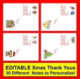 Christmas Thank You : 28 Thank You Notes EDITABLE To Perso