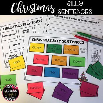 Christmas Theme Silly Sentences