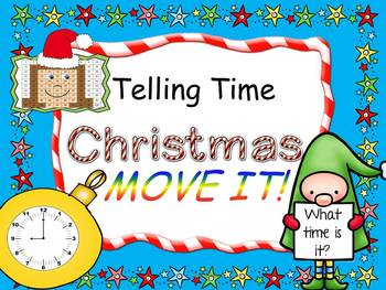 Christmas Theme Telling Time MOVE IT!