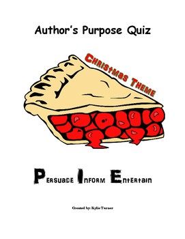 Christmas Themed Author's Purpose Quiz
