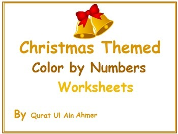 Christmas Themed Color by Numbers Worksheets: