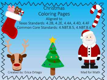 FREEBIE Holiday Themed Color By Number Activity Sheets Fou