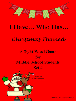 Christmas Themed I Have Who Has...Sight Word Game