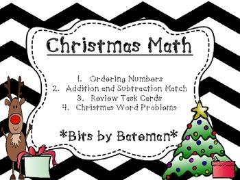 Christmas Themed Math Review Bundle
