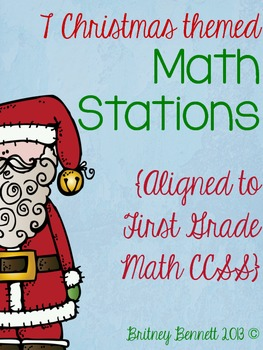 Christmas Themed Math Stations