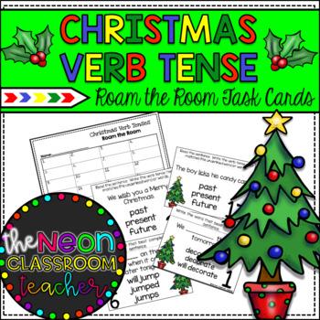 Christmas Themed Verb Tense Roam the Room Activity