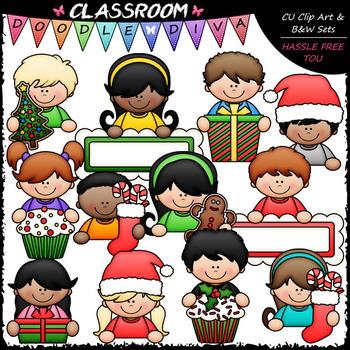 Christmas Topper Kids Clip Art - Christmas Toppers Clip Ar