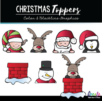 Christmas Toppers - Create Clipart