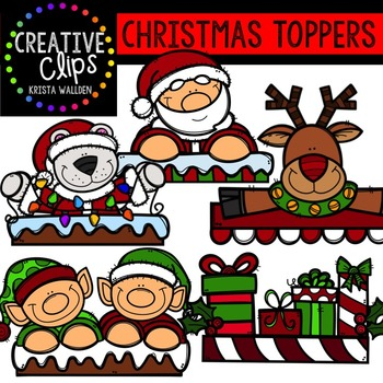 Christmas Clipart Toppers {Creative Clips Clipart}