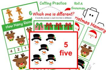 Christmas Tot School/Preschool Pack