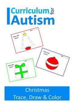 Christmas Trace Draw & Colour, Fine Motor Skills Autism Sp