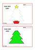 Christmas Trace Draw & Color, Fine Motor Skills Autism Spe