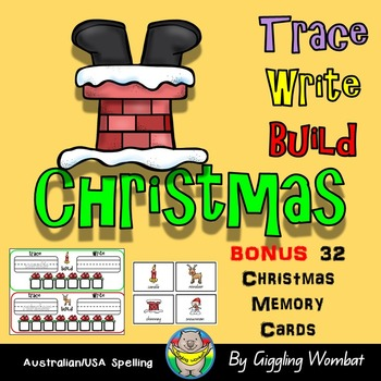 Christmas Trace, Write and Build Cards
