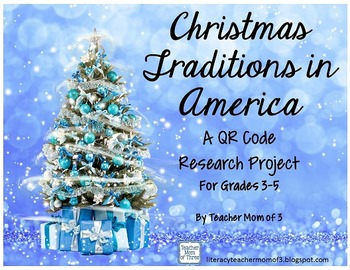 Christmas Traditions in America: QR Code Research Writing Booklet