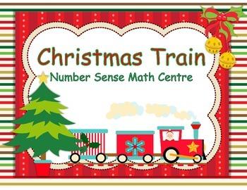 Christmas Train - Number Sense Math Center Activity