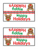 Christmas Treat Bag Toppers:  Holidays, Hanukkah, Feliz Navidad