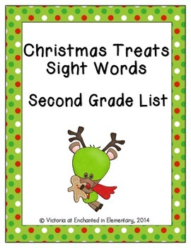 Christmas Treats Sight Words! Second Grade Dolch List Edition